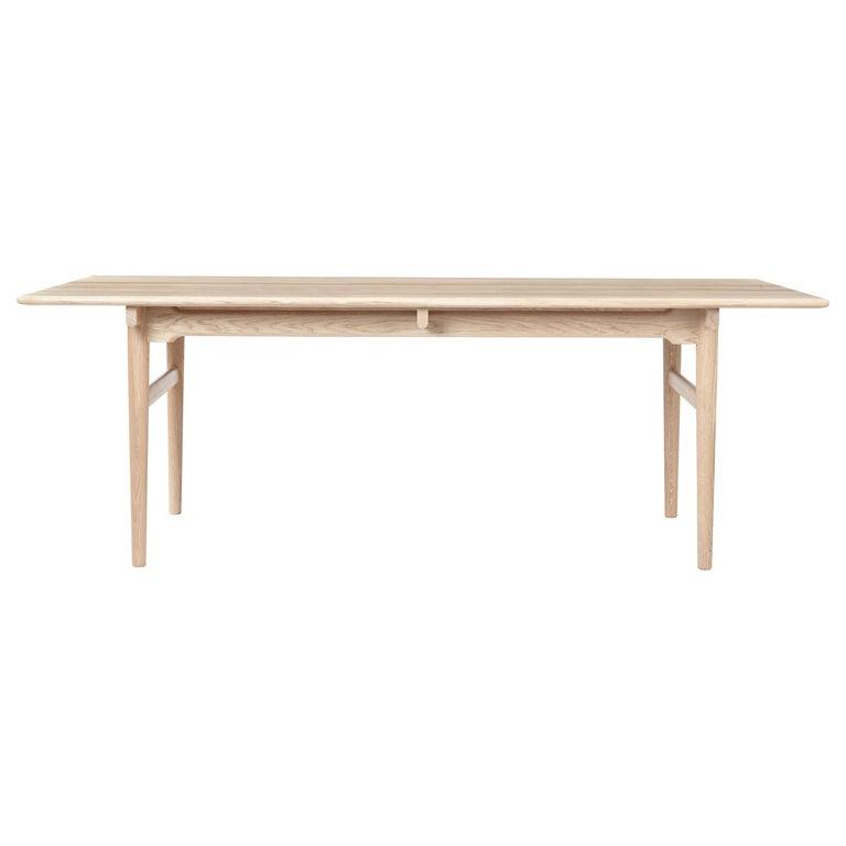 For Sale: Beige (Oak White Oil) CH327 Large Dining Table in Wood Finish by Hans J. Wegner