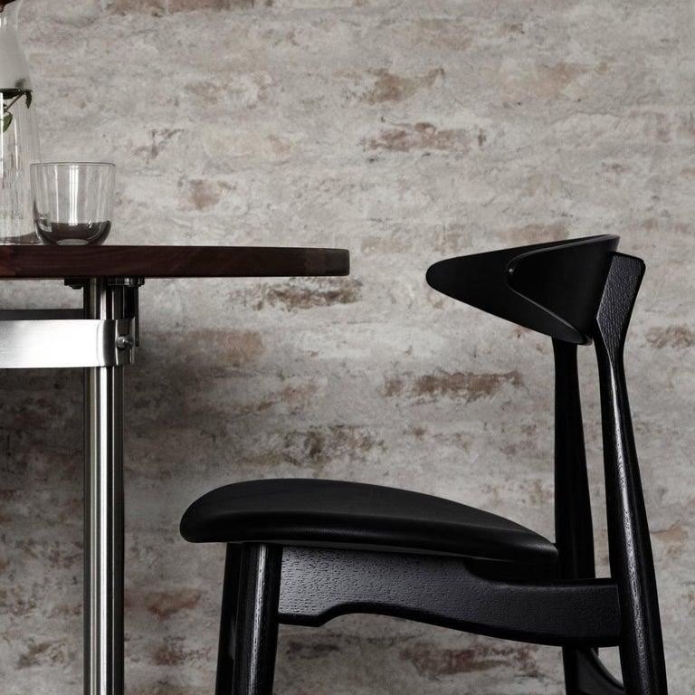 Danish CH33P Dining Chair in Black by Hans J. Wegner for Carl Hansen & Son For Sale