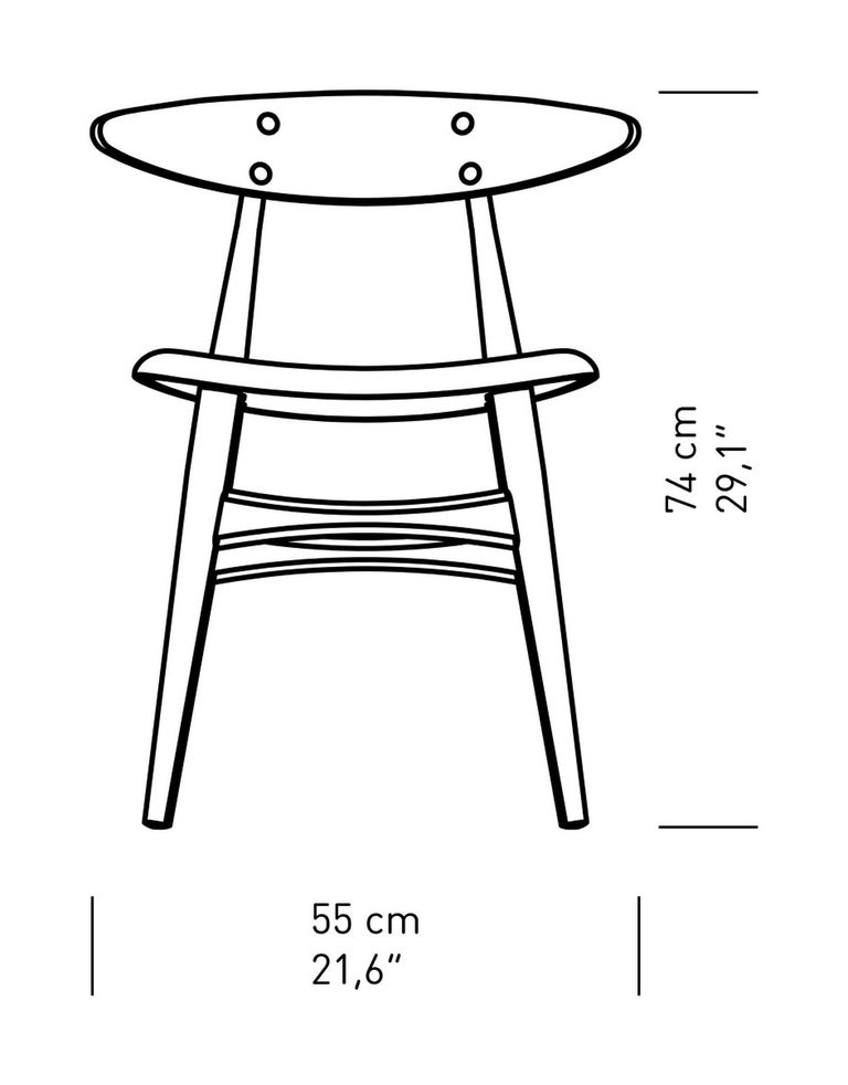 CH33P Dining Chair in Black by Hans J. Wegner for Carl Hansen & Son In New Condition For Sale In Rhinebeck, NY
