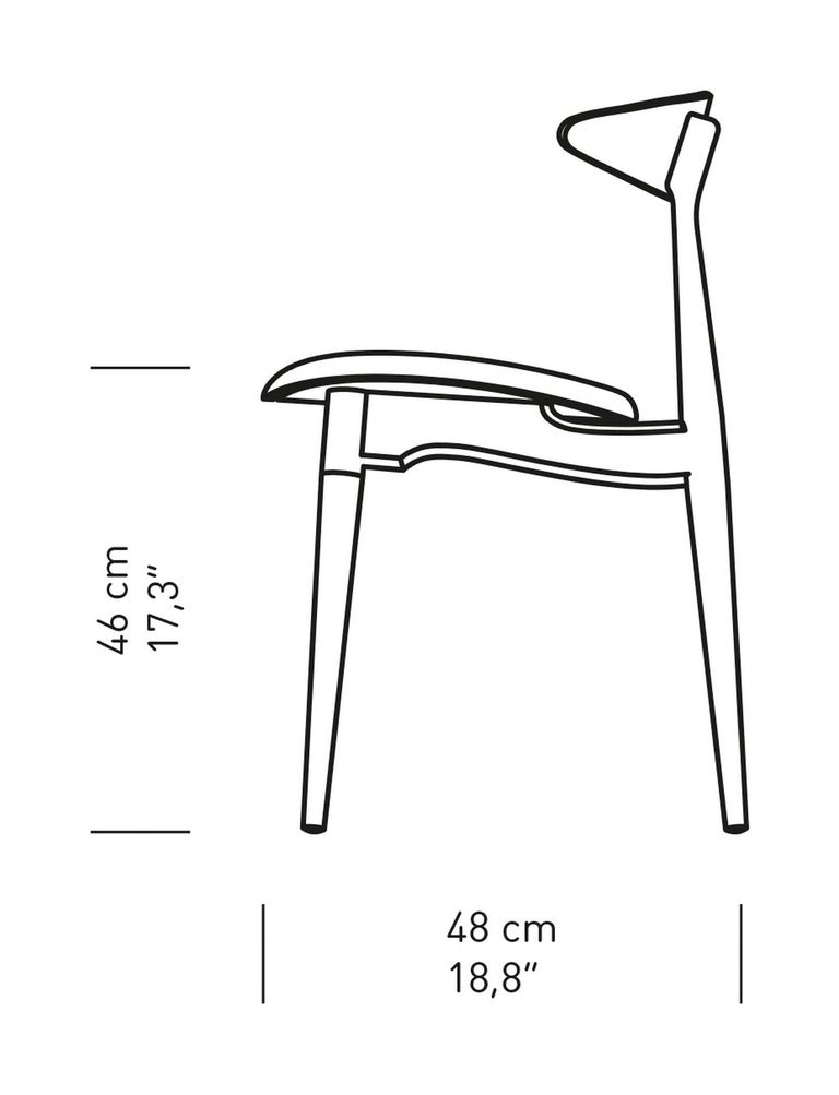 Leather CH33P Dining Chair in Black by Hans J. Wegner for Carl Hansen & Son For Sale