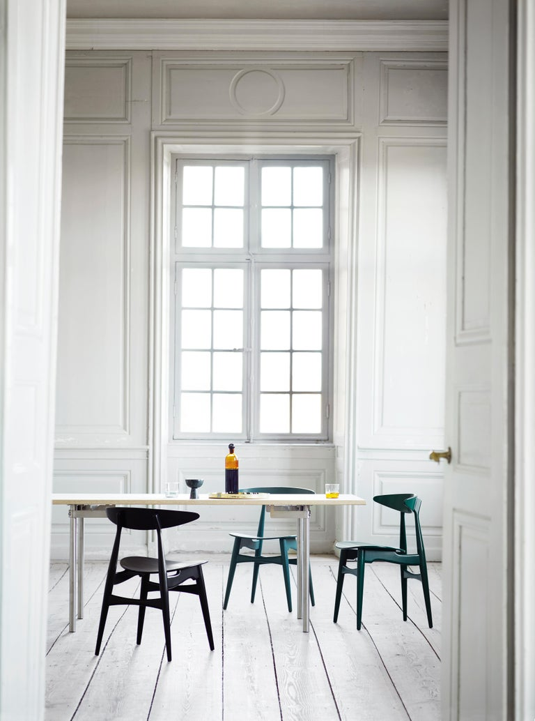 CH33P Dining Chair in Oak Lacquer by Hans J. Wegner For Sale 5