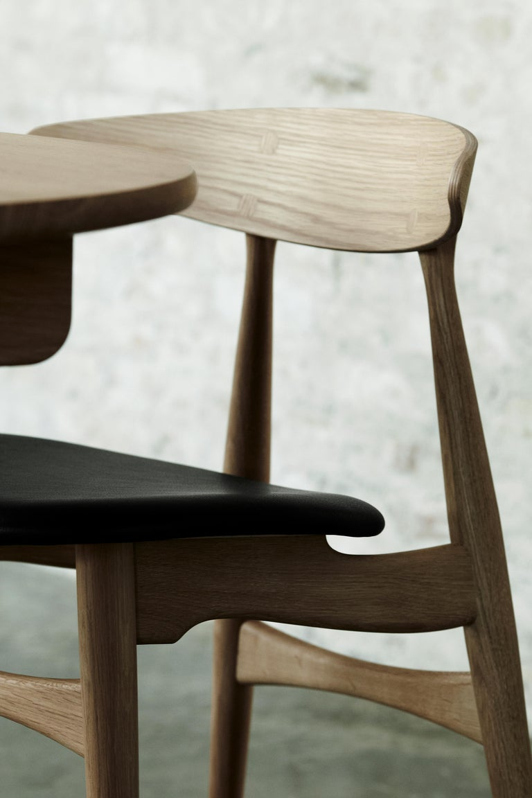 Danish CH33P Dining Chair in Oak Lacquer by Hans J. Wegner For Sale