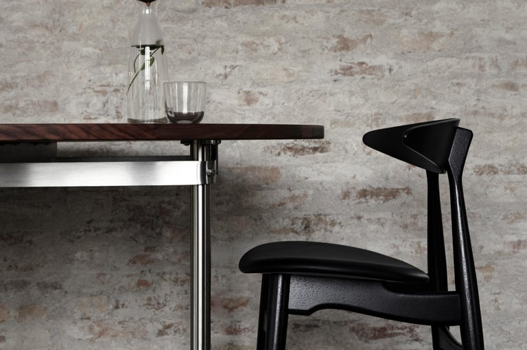 Contemporary CH33P Dining Chair in Oak Lacquer by Hans J. Wegner For Sale