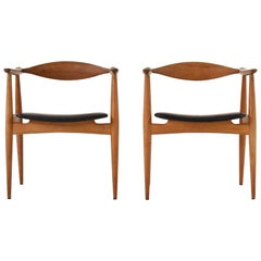 CH35 Chairs Designed by Hans Wegner for Carl Hansen and Son, Denmark, 1950s