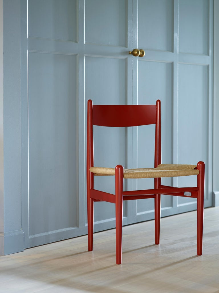 CH36 Dining Chair in Wood Finishes with Natural Papercord Seat by Hans J. Wegner For Sale 4