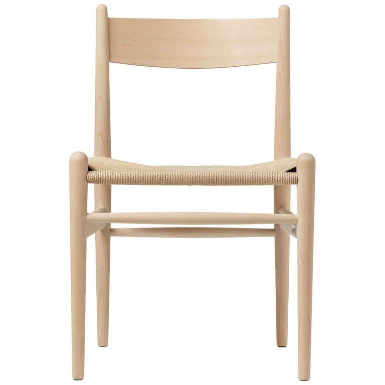 For Sale: Beige (Beech Soap) CH36 Dining Chair in Wood Finishes with Natural Papercord Seat by Hans J. Wegner