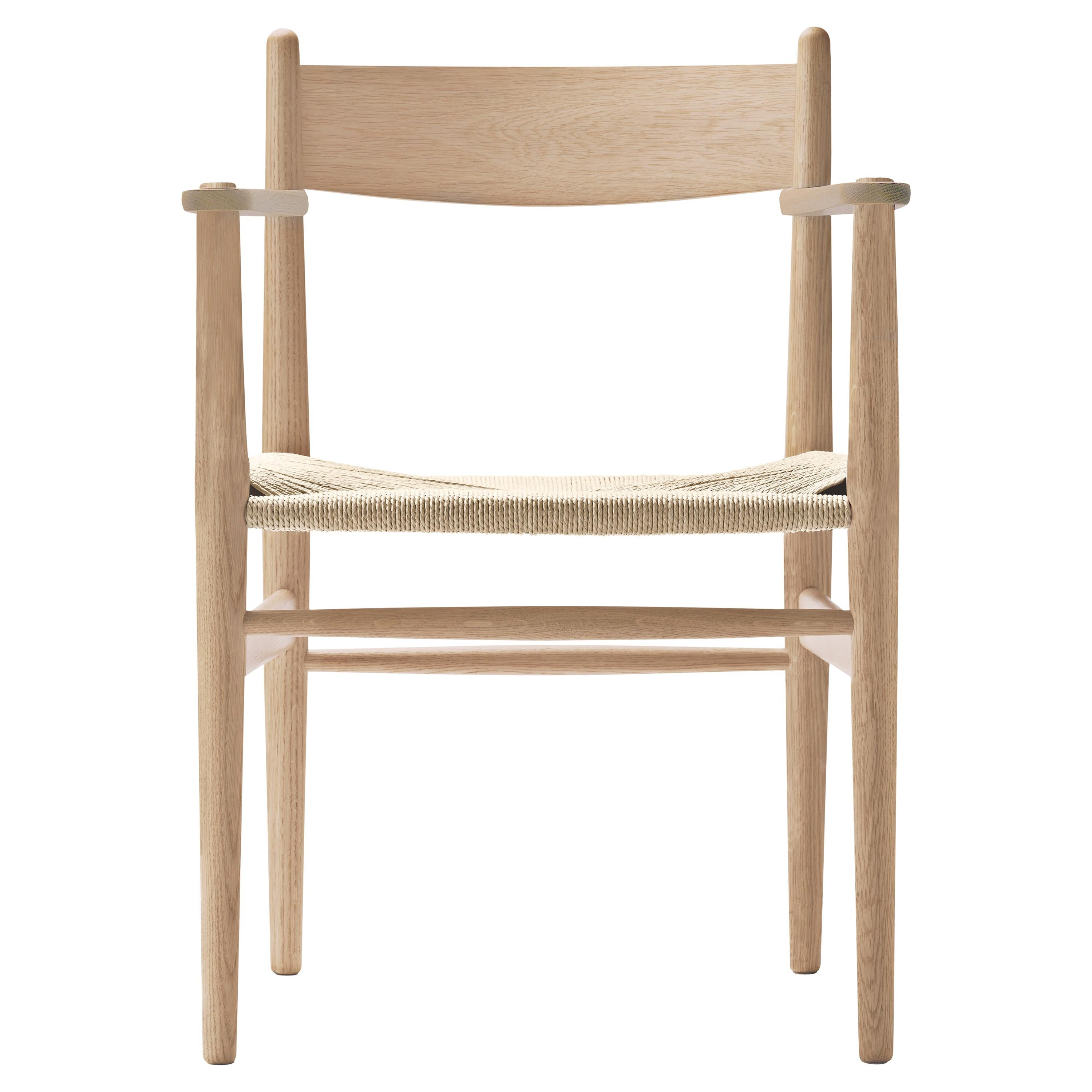 CH37 Dining Chair in Wood Finishes with Natural Papercord Seat by Hans J. Wegner