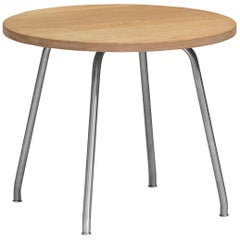 CH415 Coffee Table in Wood and Stainless Steel by Hans J. Wegner