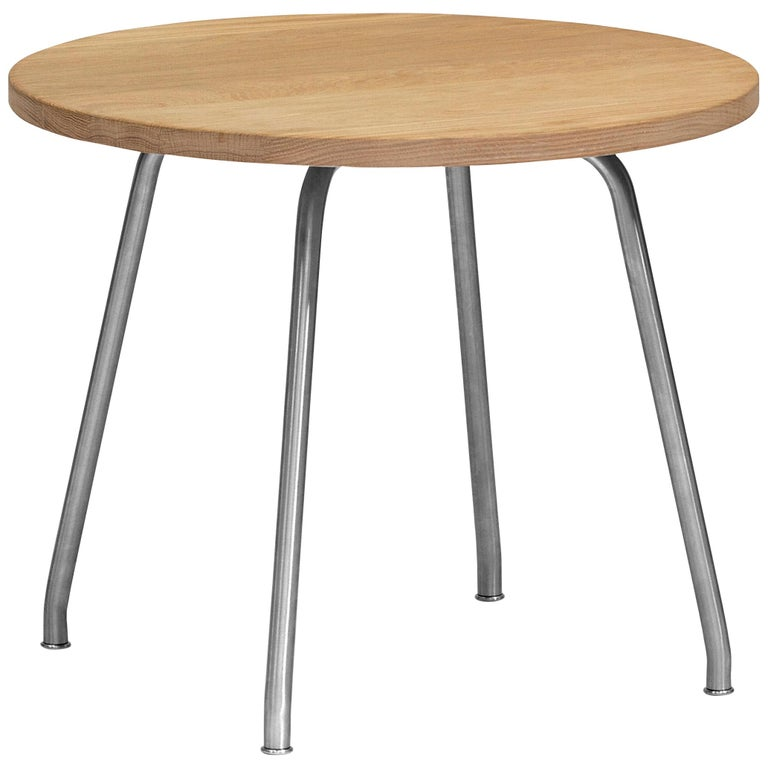 For Sale: Brown (Oak Oil) CH415 Coffee Table in Wood and Stainless Steel by Hans J. Wegner