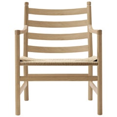 CH44 Lounge Chair in Wood with Natural Papercord Seat by Hans J. Wegner