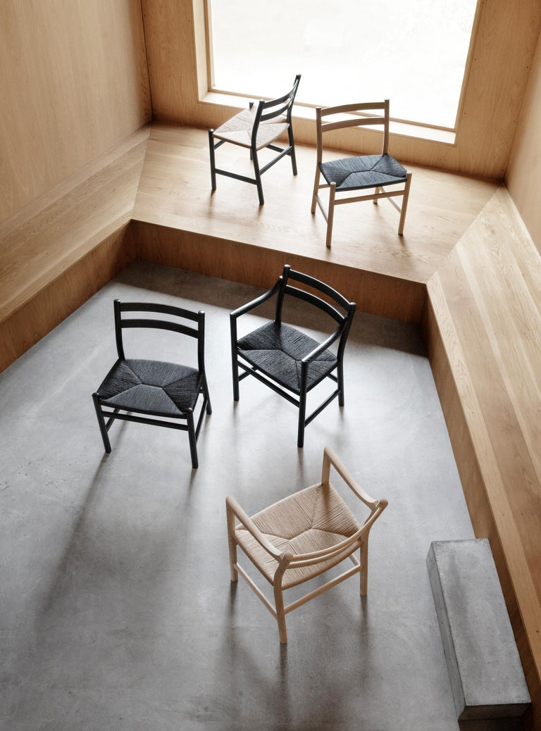 CH46 Dining Chair in Wood Finishes with Natural Papercord Seat by Hans J. Wegner For Sale 1