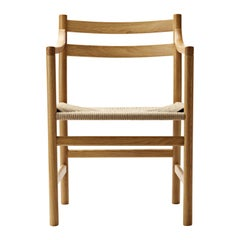 CH46 Dining Chair in Wood Finishes with Natural Papercord Seat by Hans J. Wegner