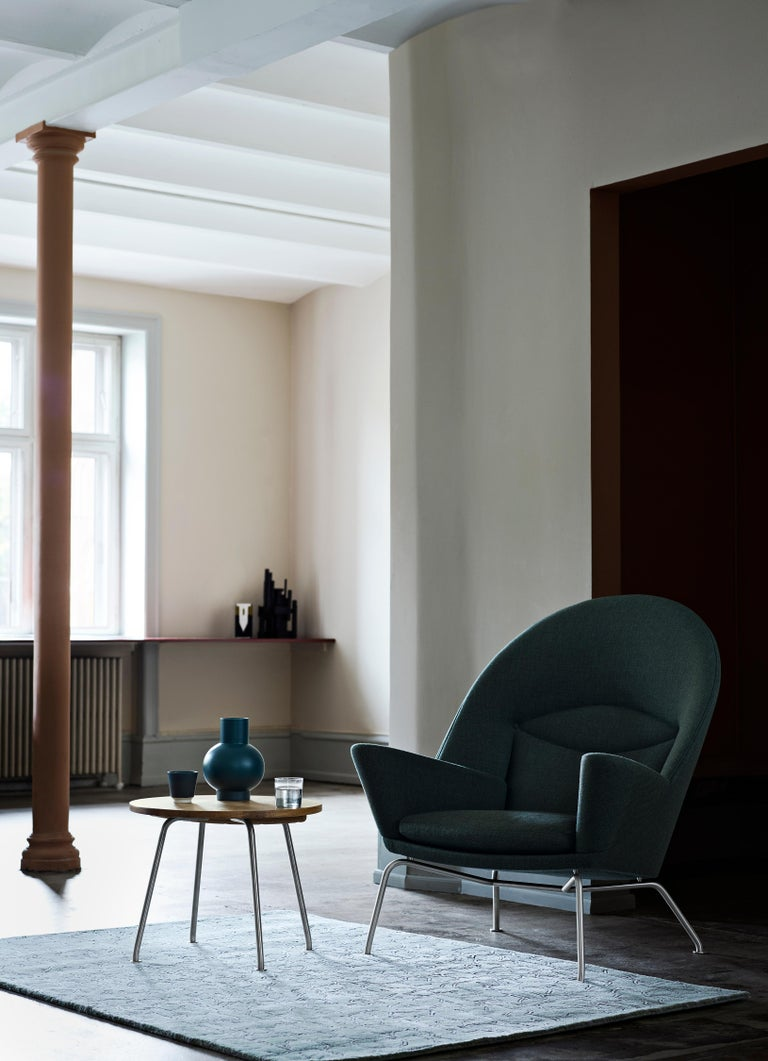 CH468 Oculus Chair in Stainless Steel with Foam Seat by Hans J. Wegner For Sale 2