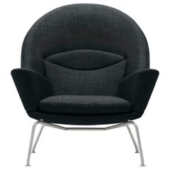 CH468 Oculus Chair in Stainless Steel with Foam Seat by Hans J. Wegner