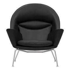 CH468 Oculus Chair in Thor 301 Leather Seat by Hans J. Wegner