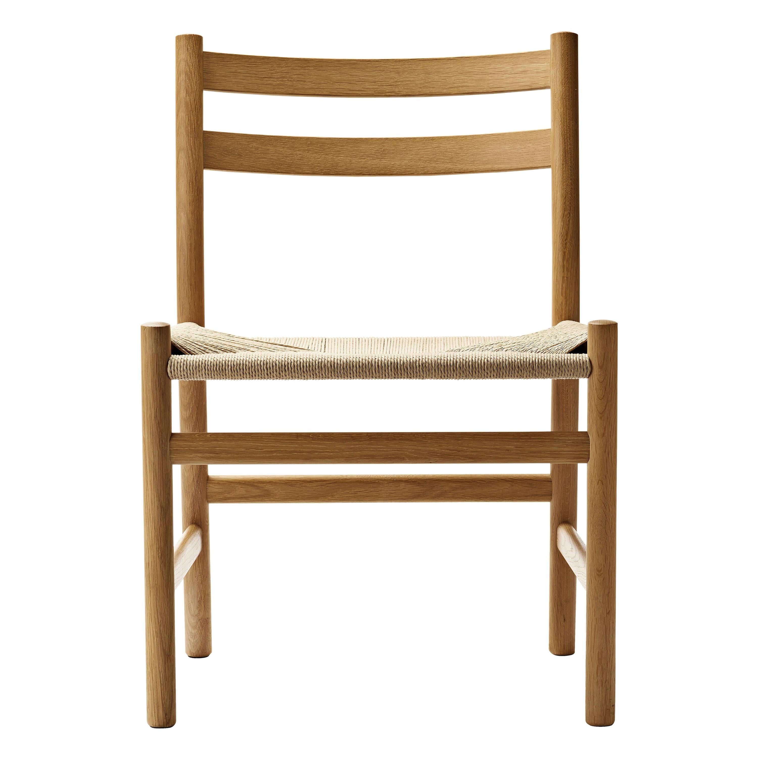 CH47 Dining Chair in Wood Finishes with Natural Papercord Seat by Hans J. Wegner
