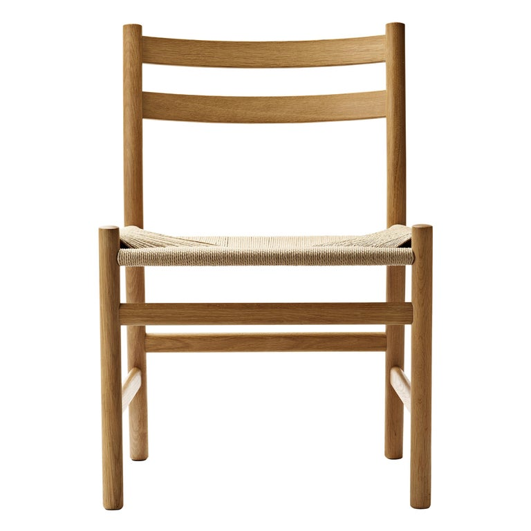 For Sale: Brown (Oak Oil) CH47 Dining Chair in Wood Finishes with Natural Papercord Seat by Hans J. Wegner