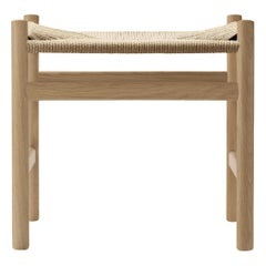 CH53 Foot Stool in Wood with Natural Papercord Seat by Hans J. Wegner