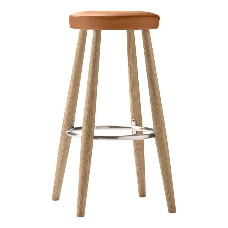 For Sale: Brown (Loke 7050) CH56 Barstool in Oak Soap by Hans J. Wegner