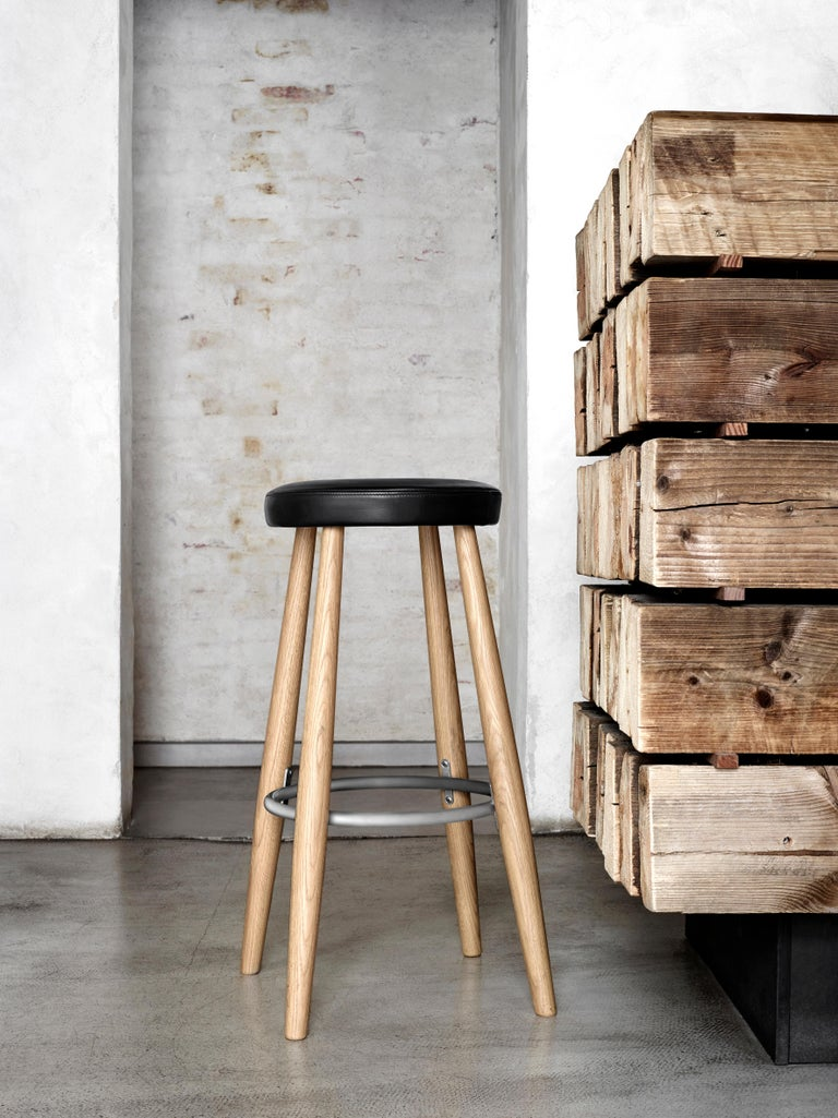 Modern CH56 Barstool in Oiled Oak by Hans J. Wegner For Sale