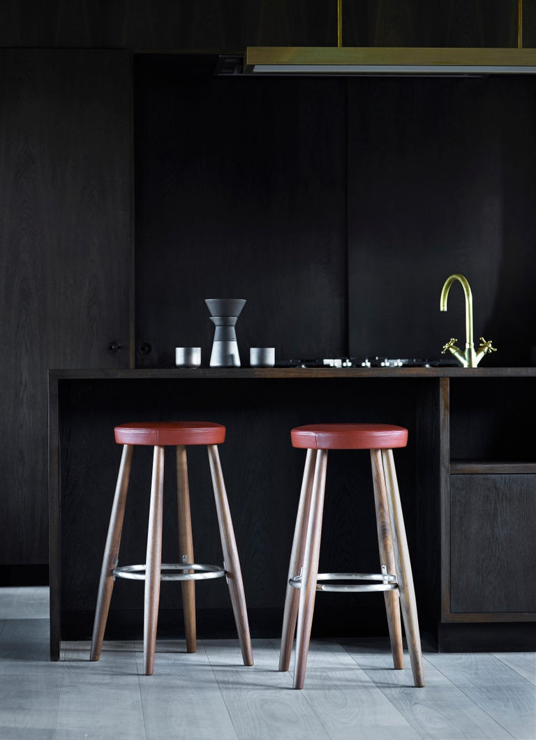 Danish CH56 Barstool in Oiled Oak by Hans J. Wegner For Sale
