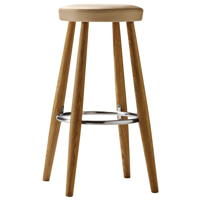 For Sale: Gray (Thor 310) CH56 Barstool in Oiled Oak by Hans J. Wegner