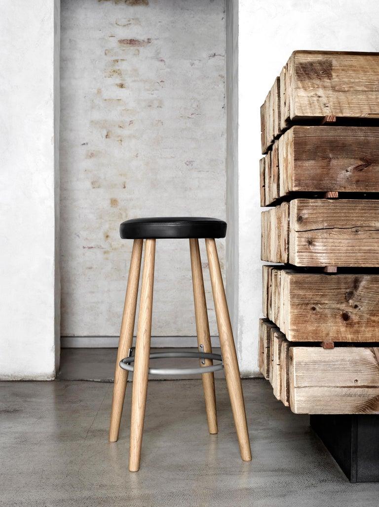 Danish CH56 Barstool in Walnut Oil by Hans J. Wegner For Sale