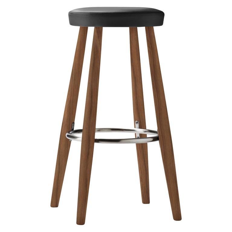 For Sale: Black (Thor 301) CH56 Barstool in Walnut Oil by Hans J. Wegner