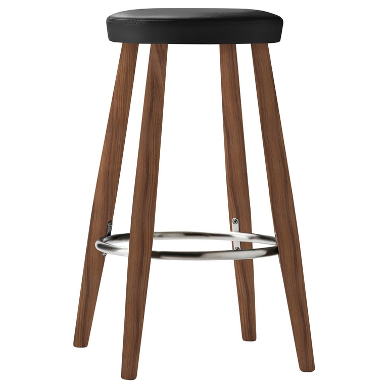 For Sale: Black (Thor 301) CH58 Counter Stool in Walnut Oil by Hans J. Wegner