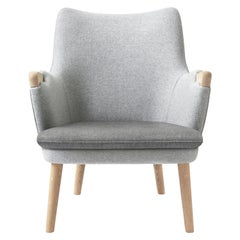 CH71 Lounge Chair in Oak White Oil with Upholstered Frame by Hans J. Wegner