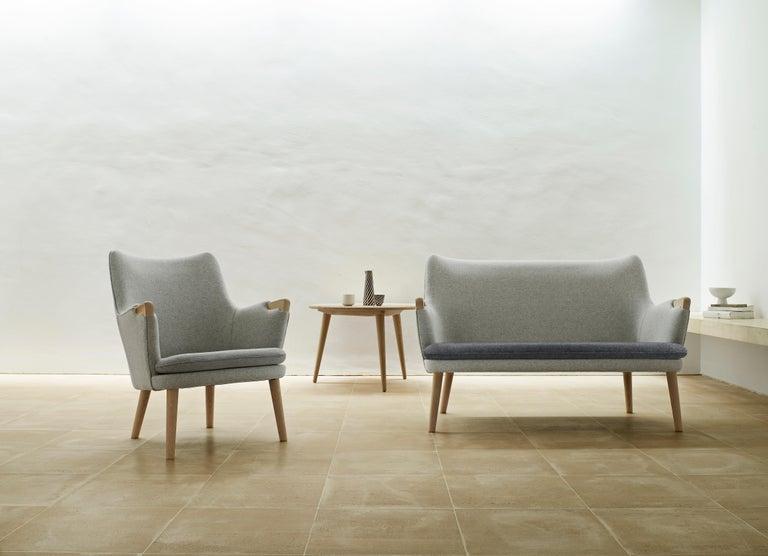 Modern CH72 Sofa in Oak Soap with Upholstered Frame by Hans J. Wegner For Sale