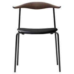 CH88P Dining Chair in Oak Smoked Stain & Thor 301 Leather Seat by Hans J. Wegner