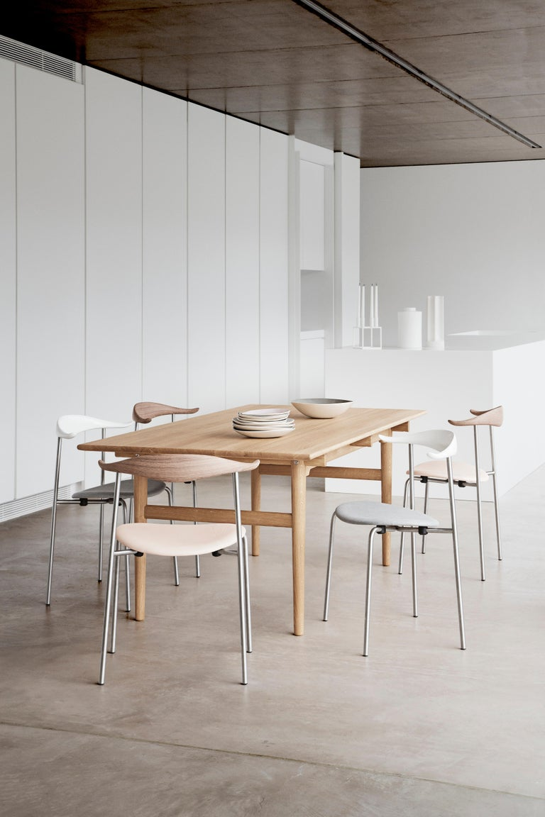 Powder-Coated CH88P Dining Chair in Oiled Oak with Powder Coated Steel Base by Hans J. Wegner For Sale