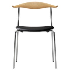 CH88P Dining Chair in Oiled Oak with Thor 301 Leather Seat by Hans J. Wegner