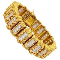 Chaavae 18 Karat and Platinum 4.50 Carat Diamond Bracelet