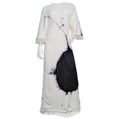 Chado Ralph Rucci Custom Made White Evening Dress