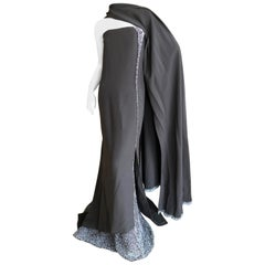 Chado Ralph Rucci Haute Couture Fall 2009 Sari Draped Natural Pearl Trim Dress