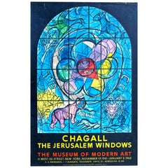"Chagall ""Jerusalem Windows"" Original Mourlot Lithographed Poster, 1962"