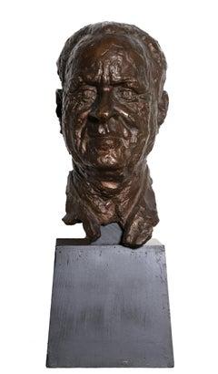 Bust of a Man, Bronze Sculpture by Chaim Gross