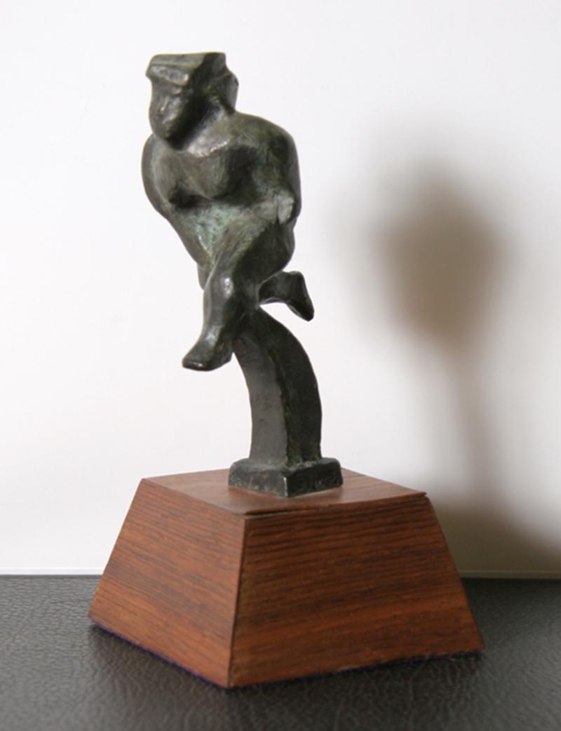 Runner, Bronze Sculpture by Chaim Gross 1943