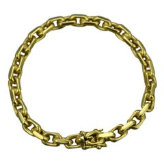 Chain Bracelet 14 Karat Gold, 1980s