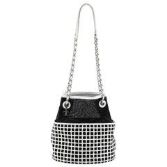 Chain Bucket Bag Mesh and Leather Medium