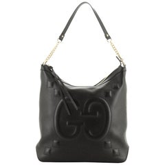 Chain Hobo GucciGhost Embossed Leather Large