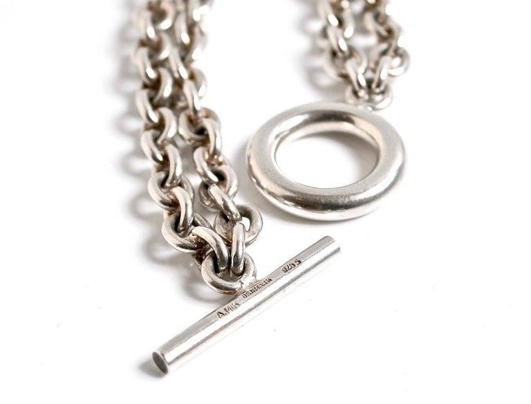 Modernist Chain Link Toggle Bracelet For Sale