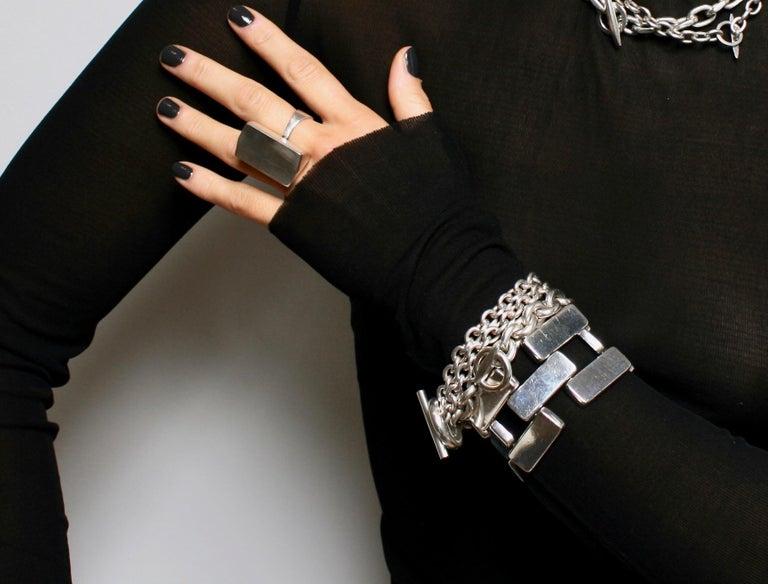 Chain Link Toggle Bracelet For Sale 1