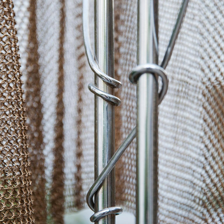 """Italian Chain Mail Floor Lamp """"Anchise"""" by Toni Cordero for Artemide, 1990 For Sale"""