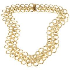 Chain Mail Necklace Yellow Gold 18 Karat