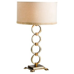Chain Silver Table Lamp