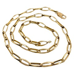 Chain with Elongated, Sculptural Links in Yellow Gold, circa 1990