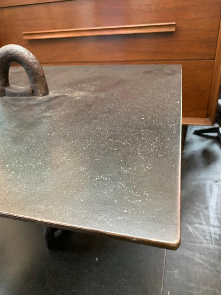Chaine d'Ancre Style Iron Chain Links Low Side Table In Good Condition For Sale In East Hampton, NY
